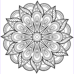 Coloring Pages Mandala Beautiful Collection Flower Mandala Coloring Page