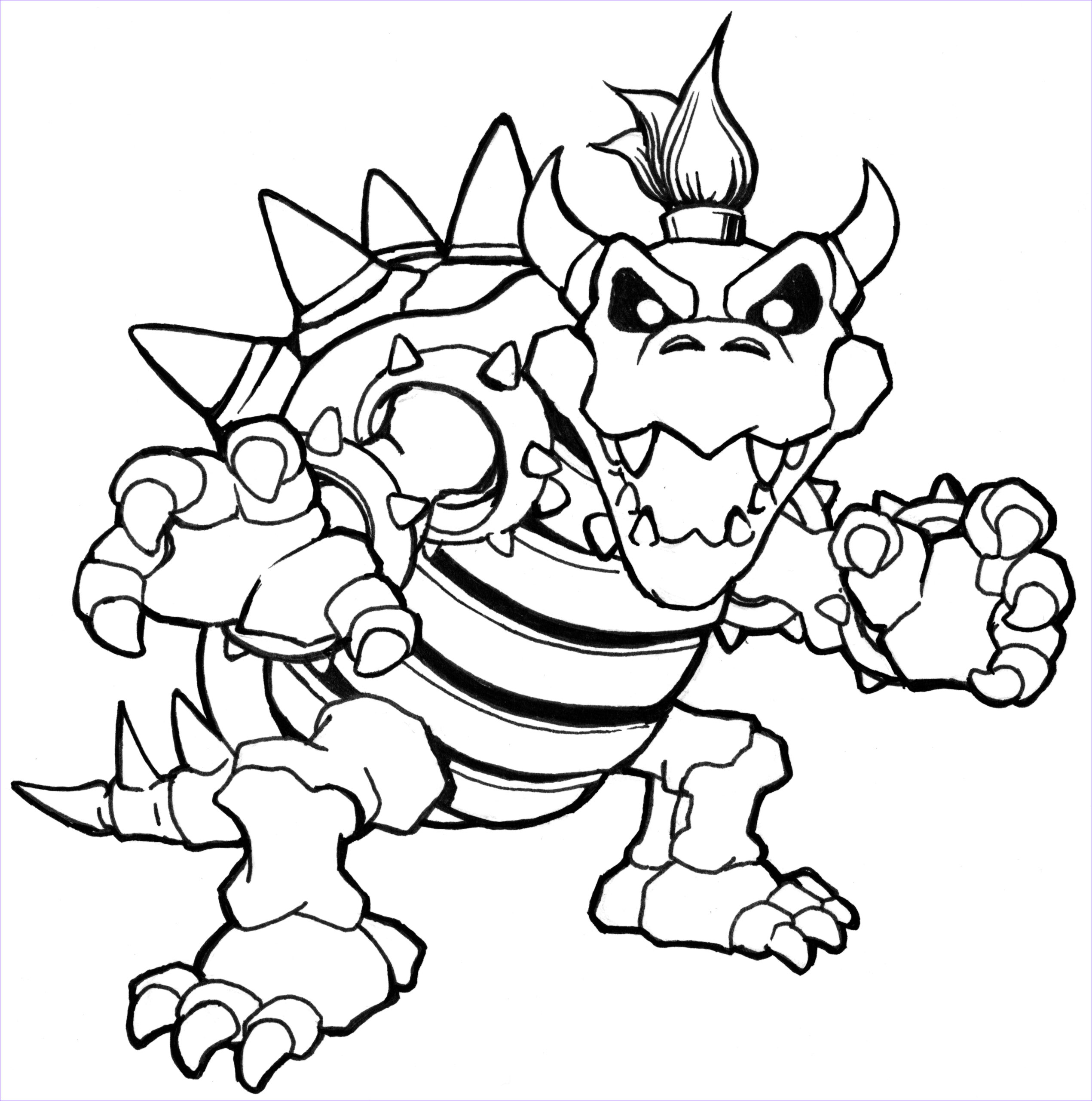 Coloring Pages Mario Awesome Photos Bowser Coloring Bowser Coloring Pages Dry Bowser Mario
