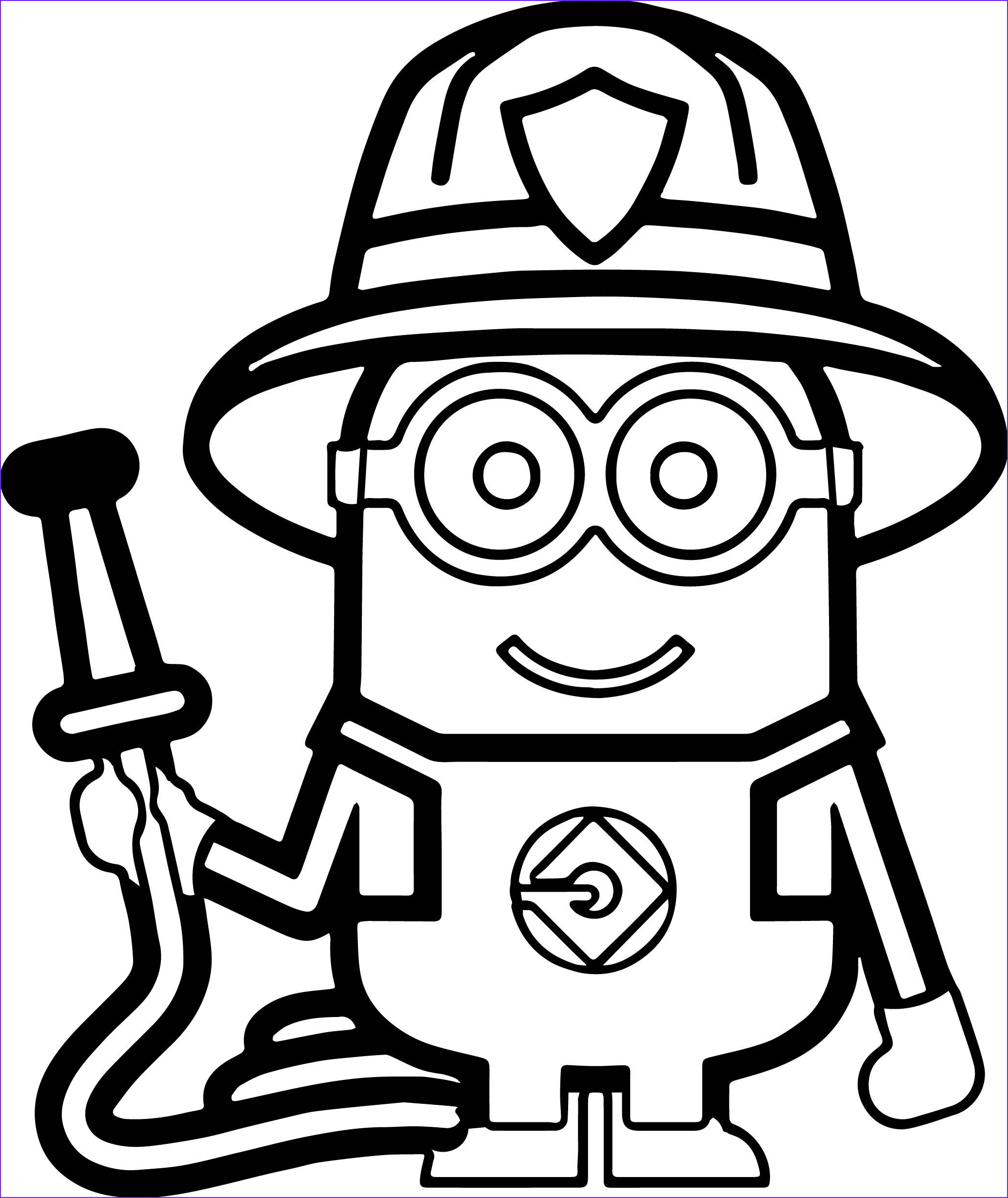 Coloring Pages Minions Beautiful Collection Minions Fireman Coloring Page ️more Pins Like This E at