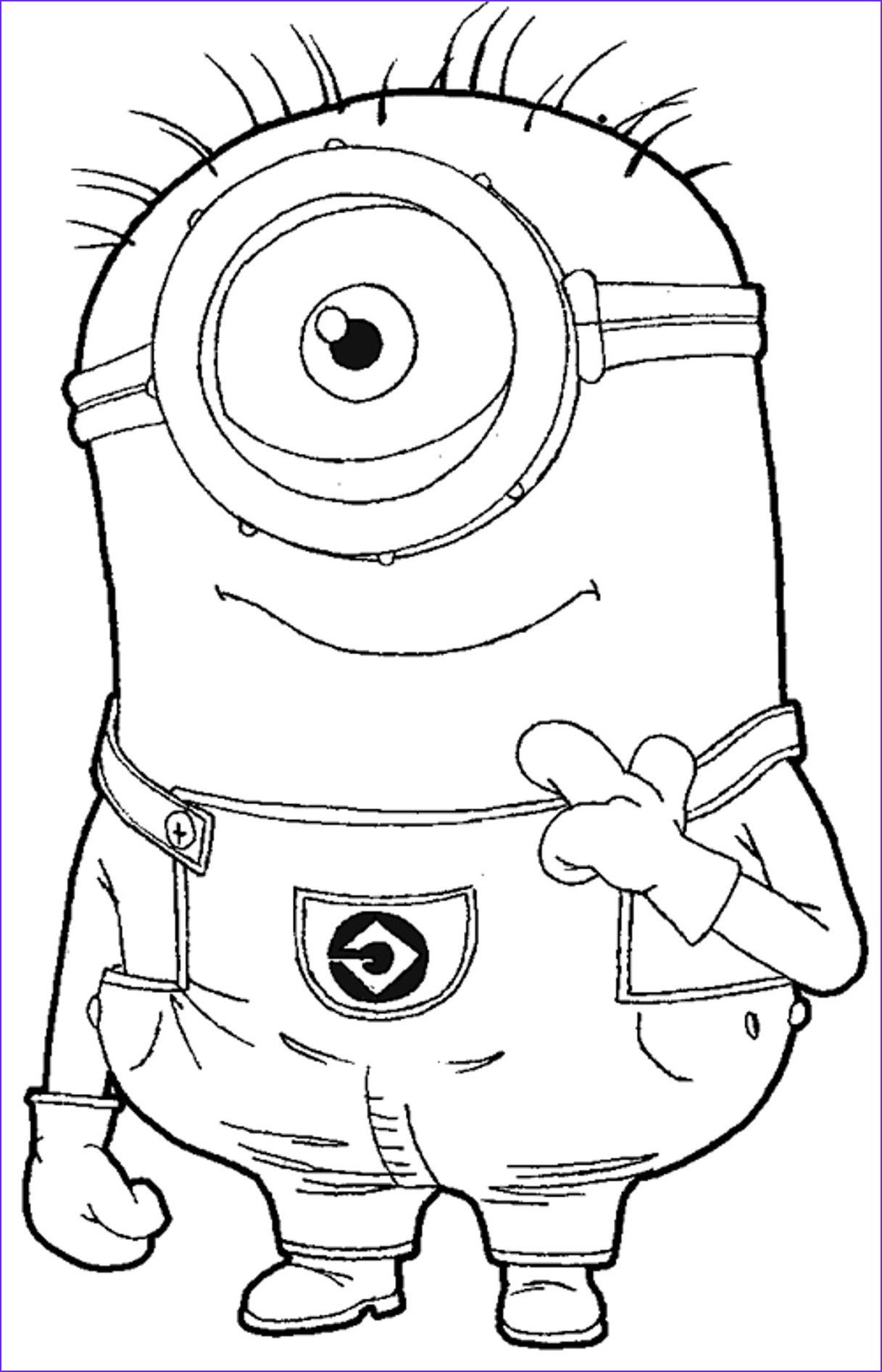 free minion coloring pages