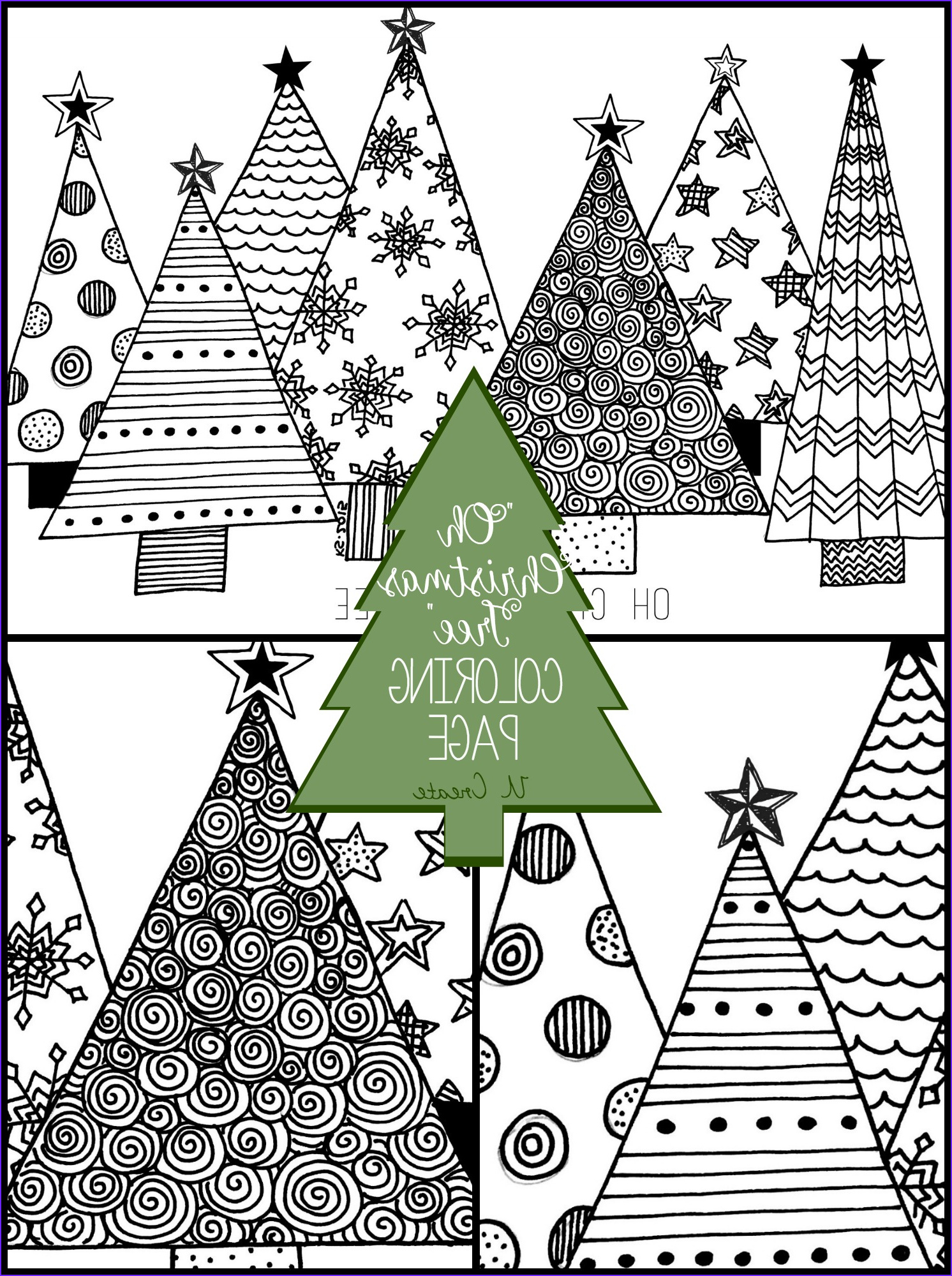 """Coloring Pages Of Christmas Trees Beautiful Images """"oh Christmas Tree"""" Coloring Page U Create"""