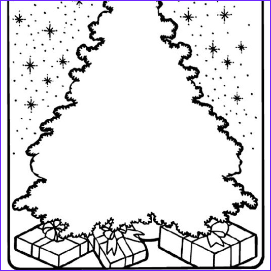 Coloring Pages Of Christmas Trees Beautiful Photography Free Christmas Tree Coloring Pages for the Kids