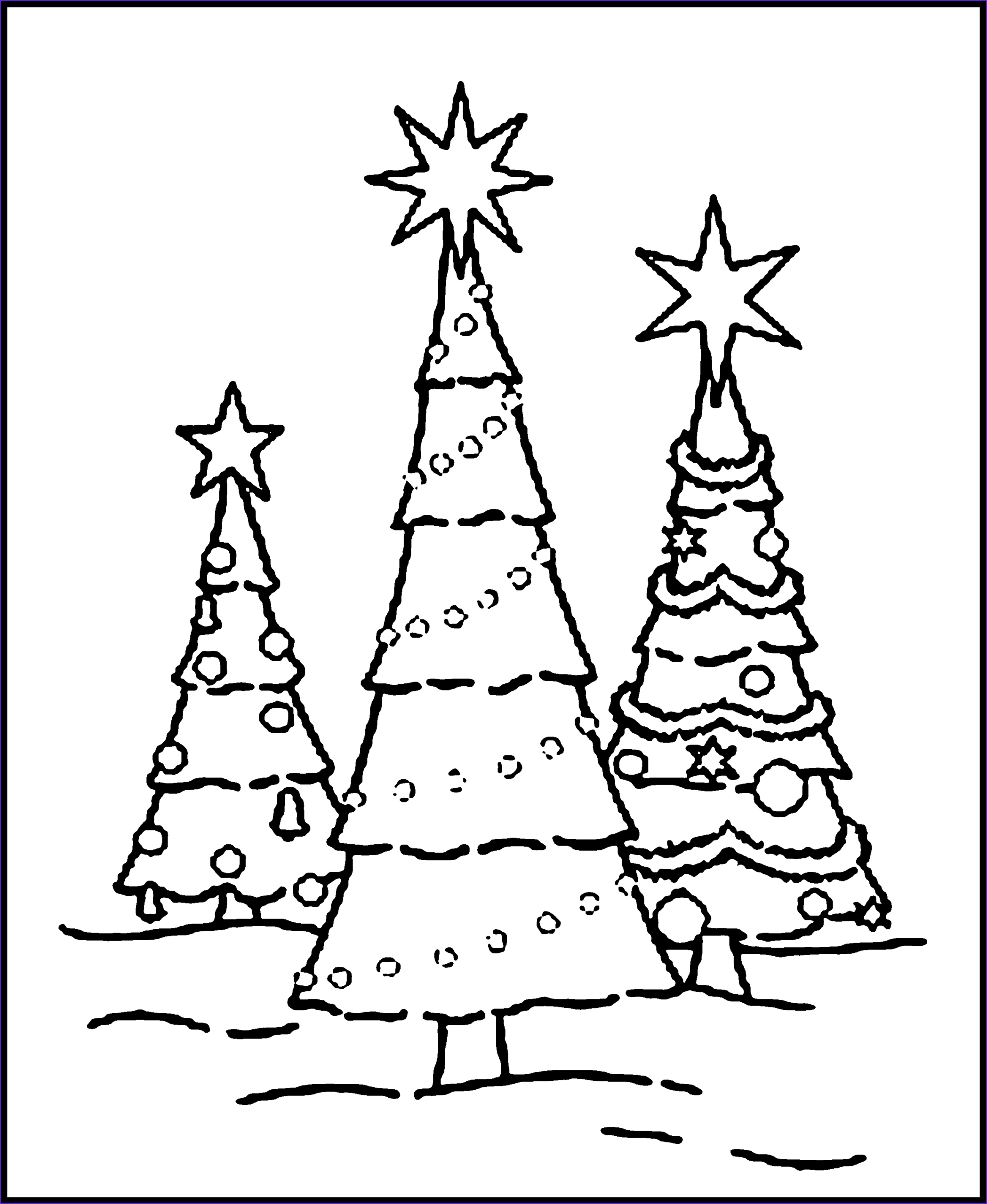 Coloring Pages Of Christmas Trees Beautiful Stock Free Printable Christmas Tree Coloring Pages for Kids