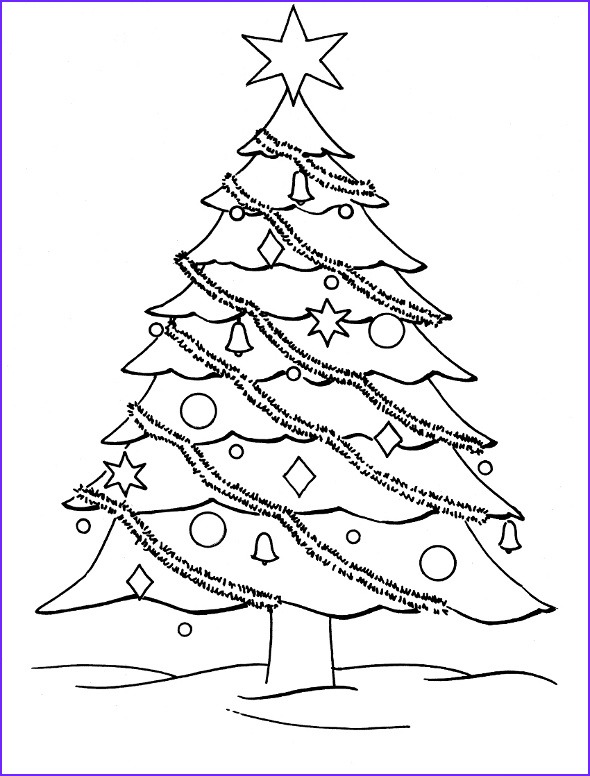 Coloring Pages Of Christmas Trees Elegant Gallery Free Christmas Tree Coloring Pages – Wallpapers9