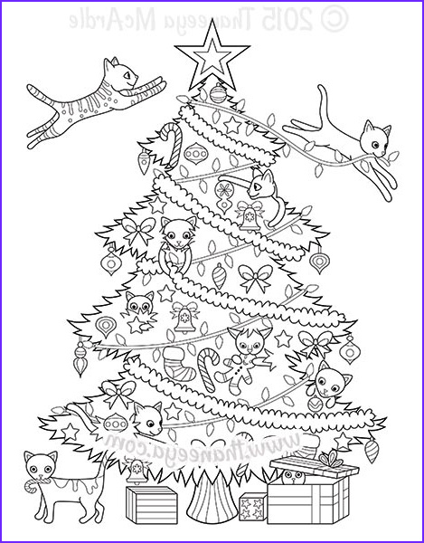 Coloring Pages Of Christmas Trees Unique Image Christmas Coloring Book by Thaneeya Mcardle — Thaneeya