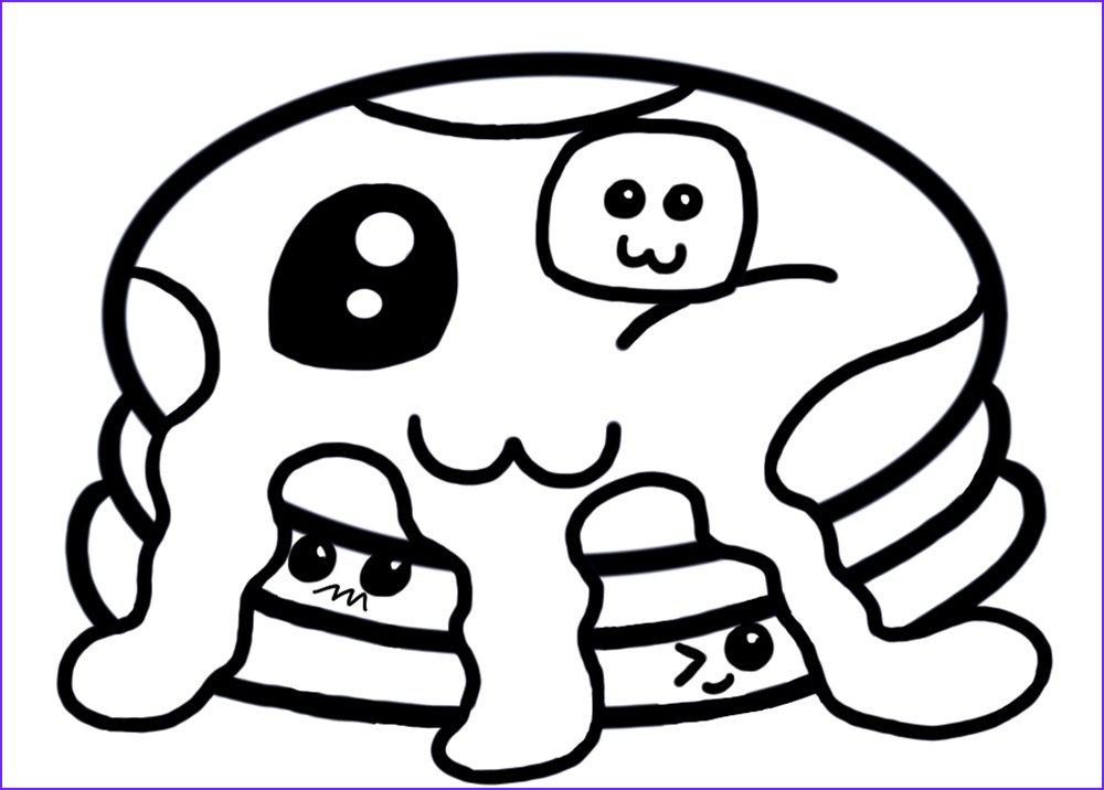 Coloring Pages Of Food Beautiful Image Cute Food Coloring Pages Coloring Home