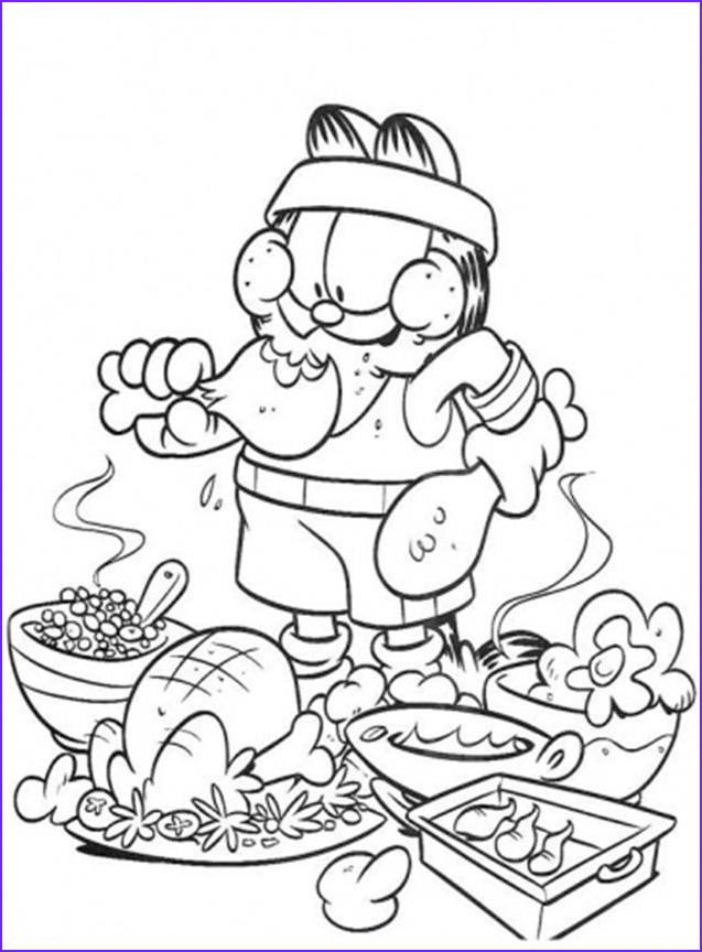 Coloring Pages Of Food Beautiful Photos Garfield Coloring Pages Bestofcoloring