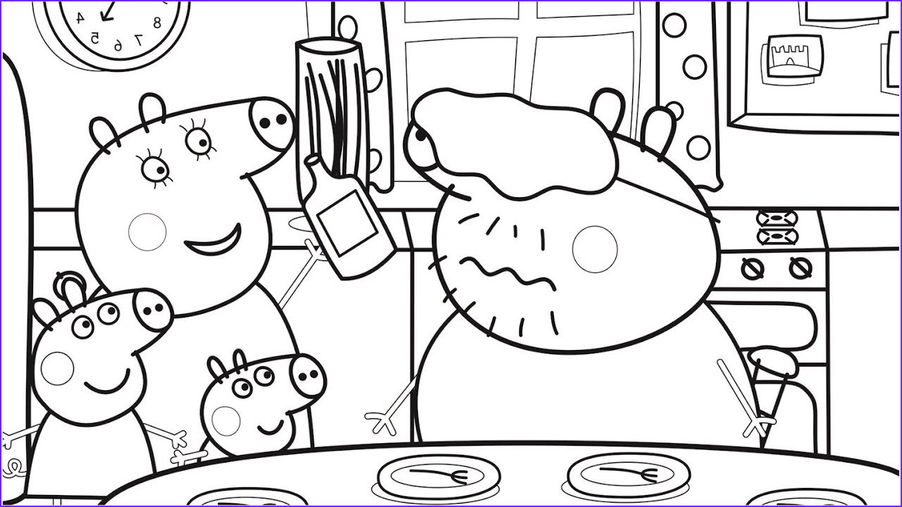 Coloring Pages Of Food Elegant Collection Food Coloring Pages with Daddy Pig Peppa Pig Coloring Book