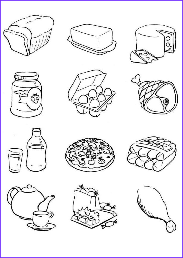Coloring Pages Of Food Elegant Photos Free Printable Food Coloring Pages for Kids