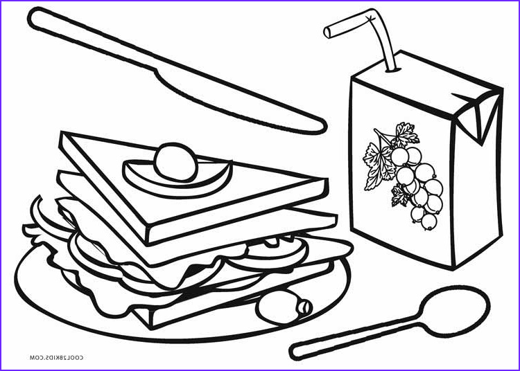 Coloring Pages Of Food Inspirational Photos Free Printable Food Coloring Pages for Kids