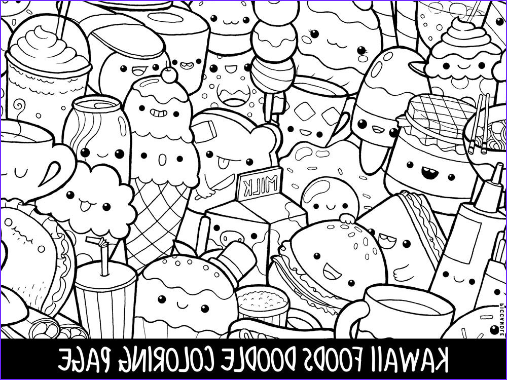 Coloring Pages Of Food Luxury Image Foods Doodle Coloring Page Printable Cute Kawaii Coloring