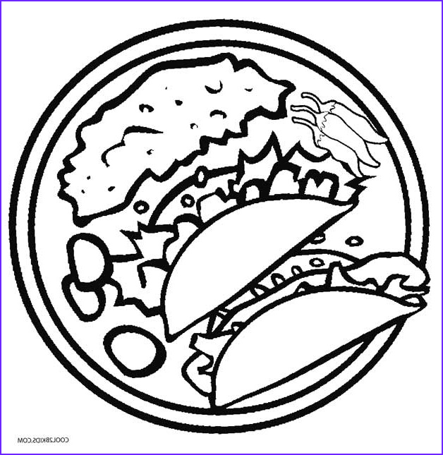 Coloring Pages Of Food Luxury Images Printable Cinco De Mayo Coloring Pages for Kids