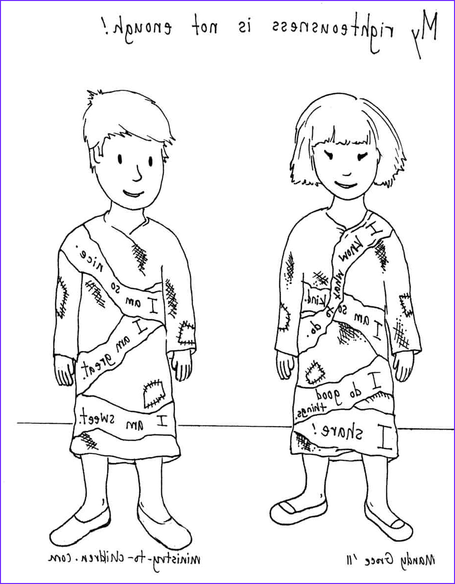 covered by christ coloring pages