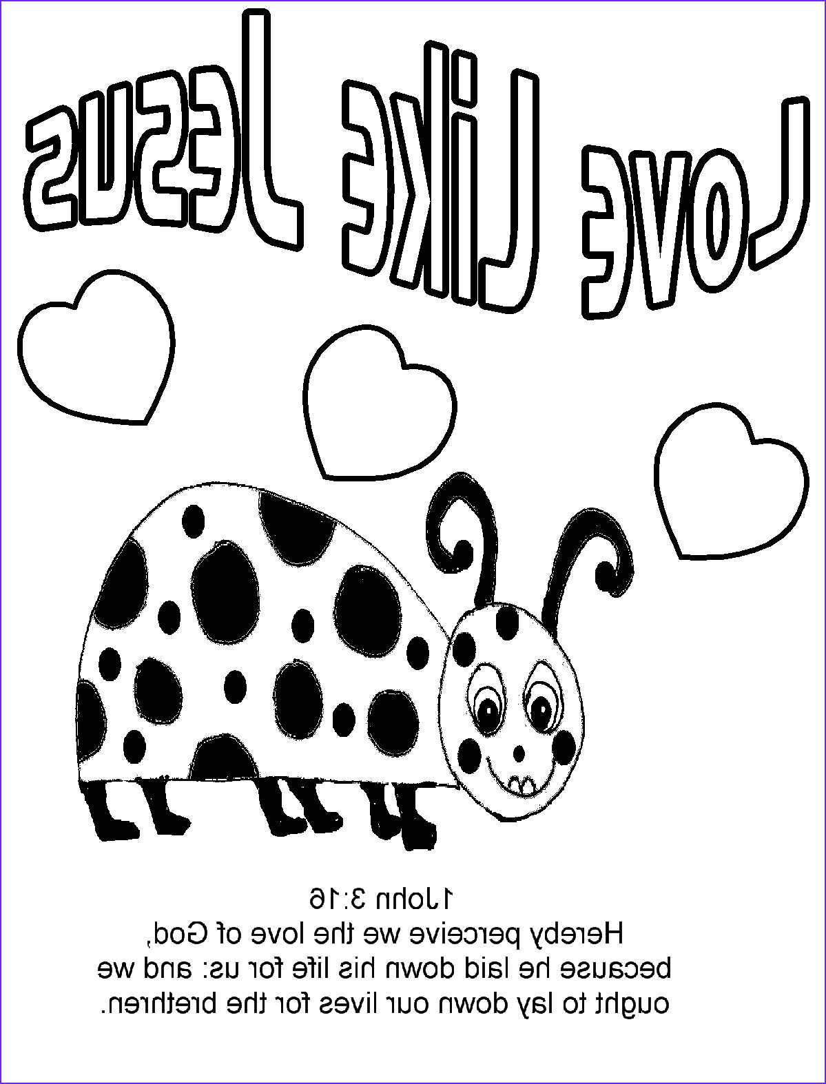 love bug for jesus coloring pages
