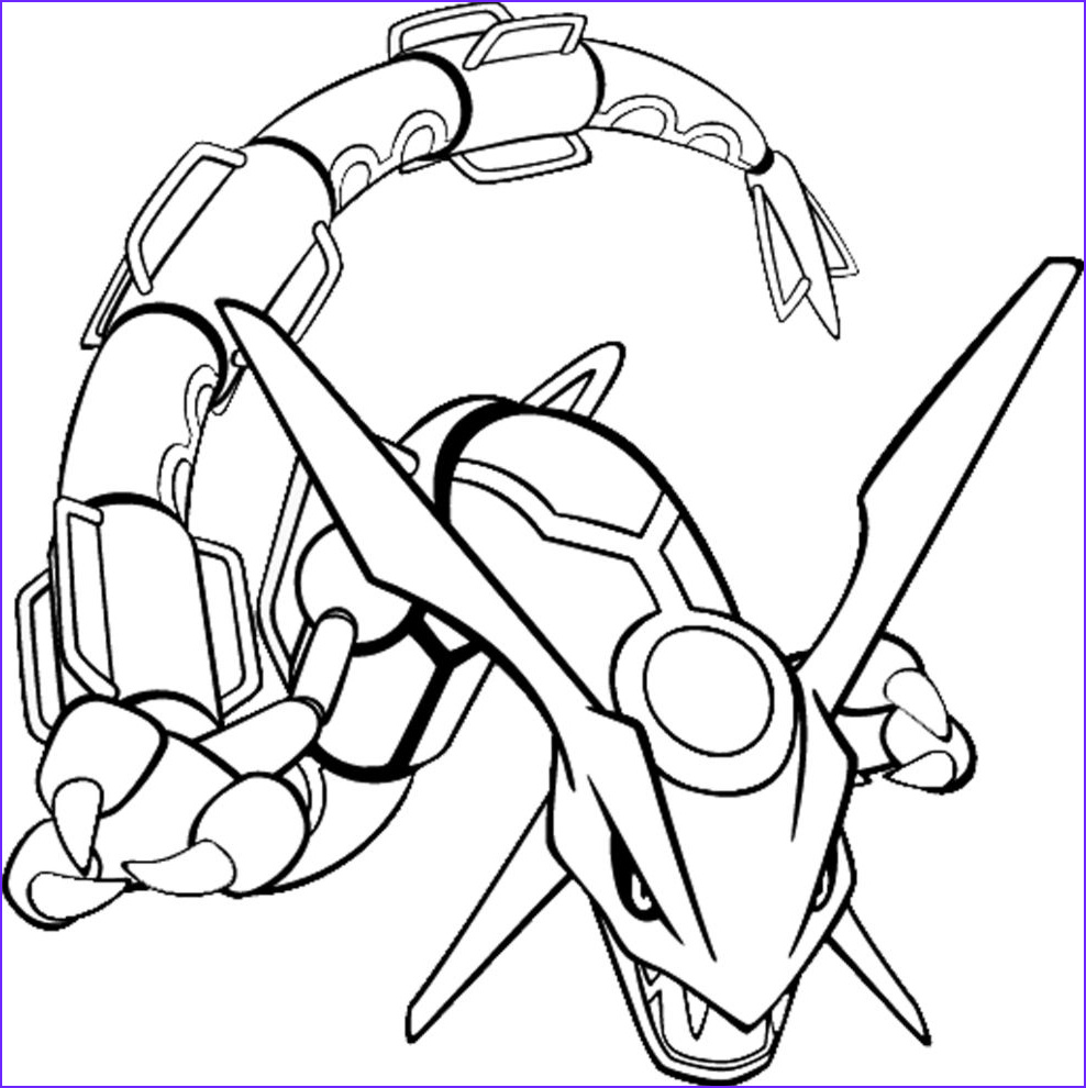 Coloring Pages Of Pokemon Luxury Photos Pokemon Coloring Pages for Kids Pokemon Rayquaza