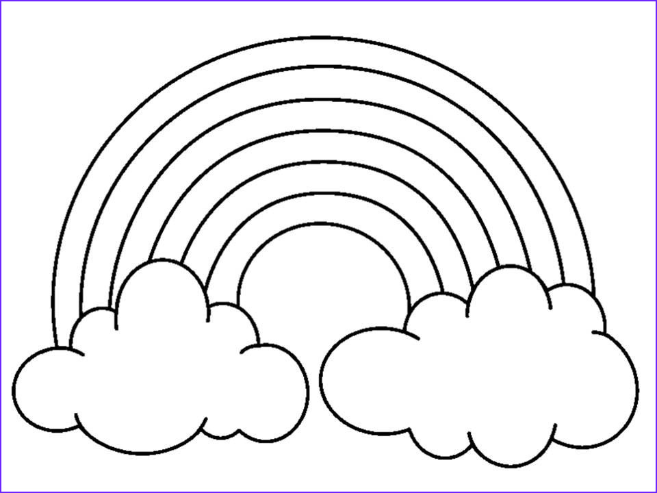 Coloring Pages Of Rainbows Elegant Collection Pin On Coloring Pages