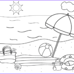 Coloring Pages Of The Beach Awesome Stock Free Printable Beach Coloring Page And A Fun Activity