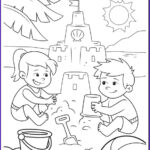 Coloring Pages Of The Beach Beautiful Images Fun At The Beach Coloring Page