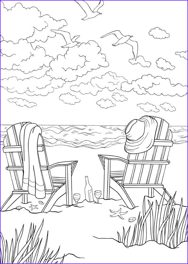 Coloring Pages Of the Beach Beautiful Photos Bliss Seashore Coloring Book Your Passport to Calm by