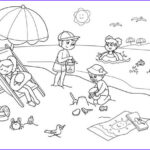 Coloring Pages Of The Beach Cool Image Beach 107 Nature – Printable Coloring Pages