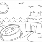 Coloring Pages Of The Beach Inspirational Gallery Beach Coloring Pages Beach Scenes & Activities