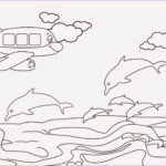 Coloring Pages Of The Beach Luxury Images Airplane Crossing The Beach