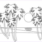 Coloring Pages Of The Beach Luxury Photos Tropical Beach Coloring Page