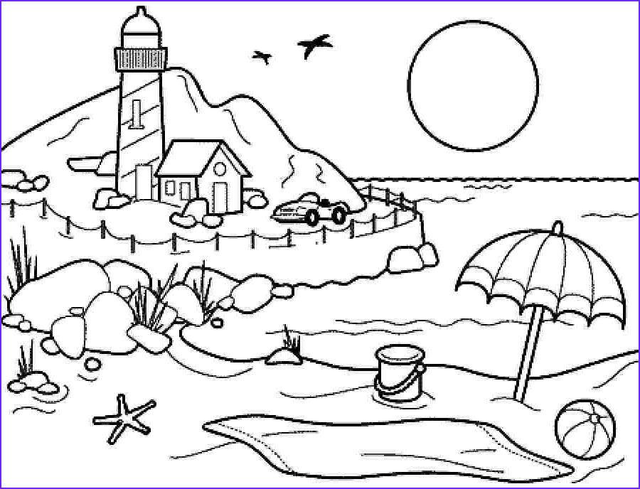 Coloring Pages Of the Beach New Photos Coloring Pages Summer Season Pictures for Kids Drawing