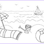 Coloring Pages Of the Beach New Stock Beach and Ocean Coloring Pages