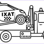 Coloring Pages Of Trucks Beautiful Photos Drawing Small Taxi Car Carrier Truck Coloring Page For