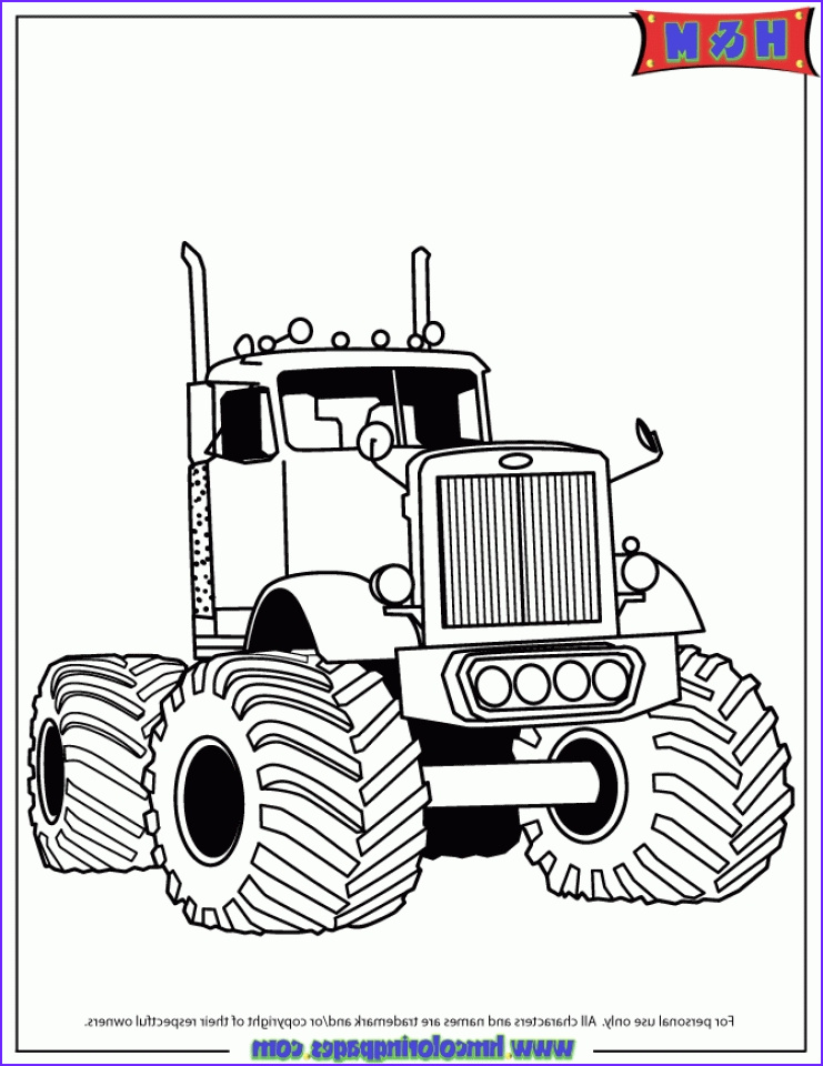 Coloring Pages Of Trucks Cool Image 20 Free Printable Truck Coloring Pages Everfreecoloring