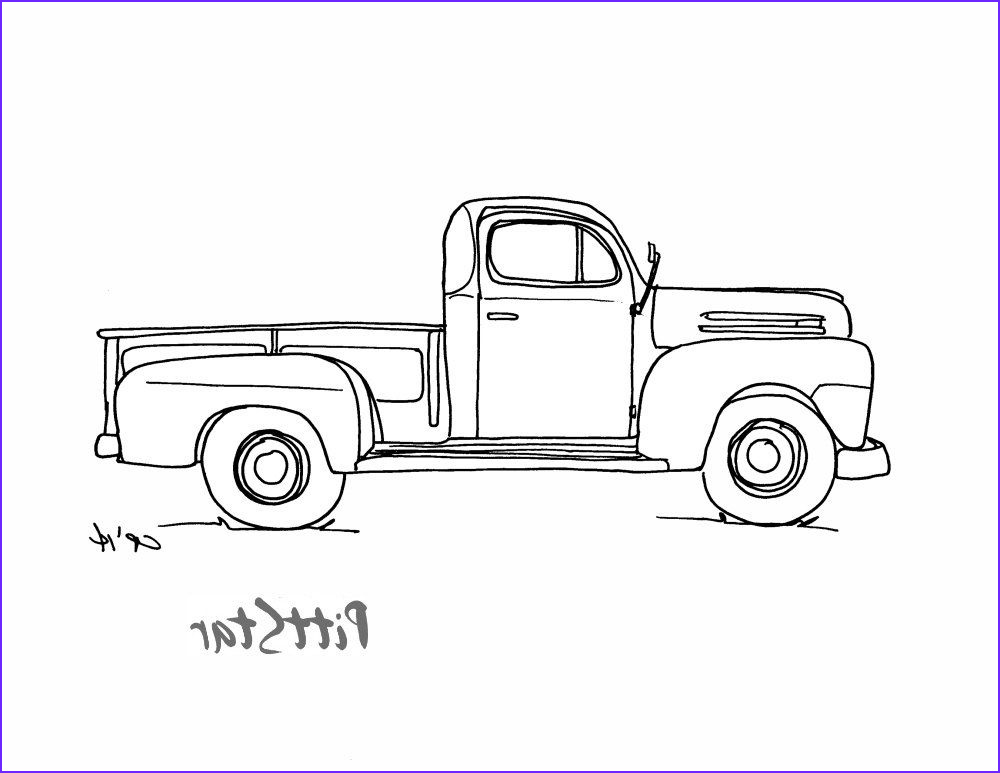 Coloring Pages Of Trucks Elegant Photos Vintage Truck Coloring Pages