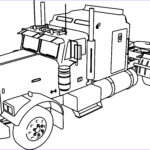 Coloring Pages Of Trucks Luxury Images Peterbilt Semi Truck Coloring Pages Gallery