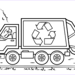 Coloring Pages Of Trucks Unique Photos Recycling Truck Coloring Page