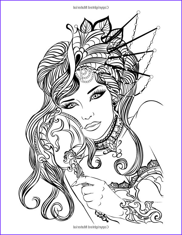 Coloring Pages Of Women Beautiful Image Amazon Faces Coloring Book for Grown Ups 2 Volume 2