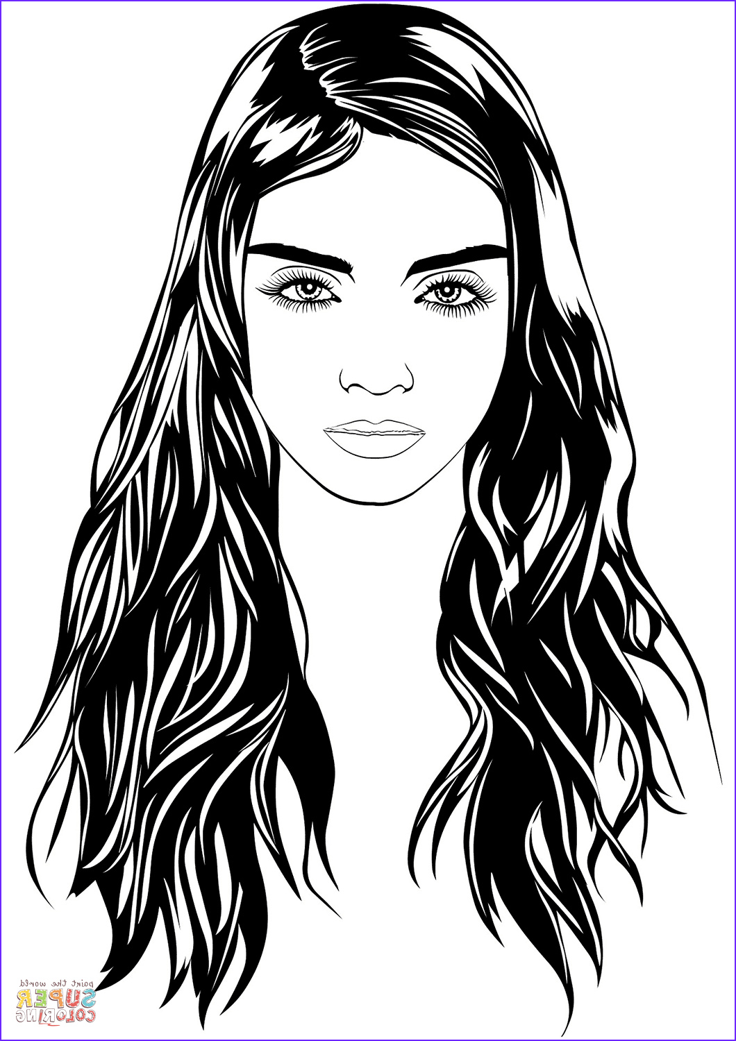 Coloring Pages Of Women Beautiful Images Woman Portrait Coloring Page