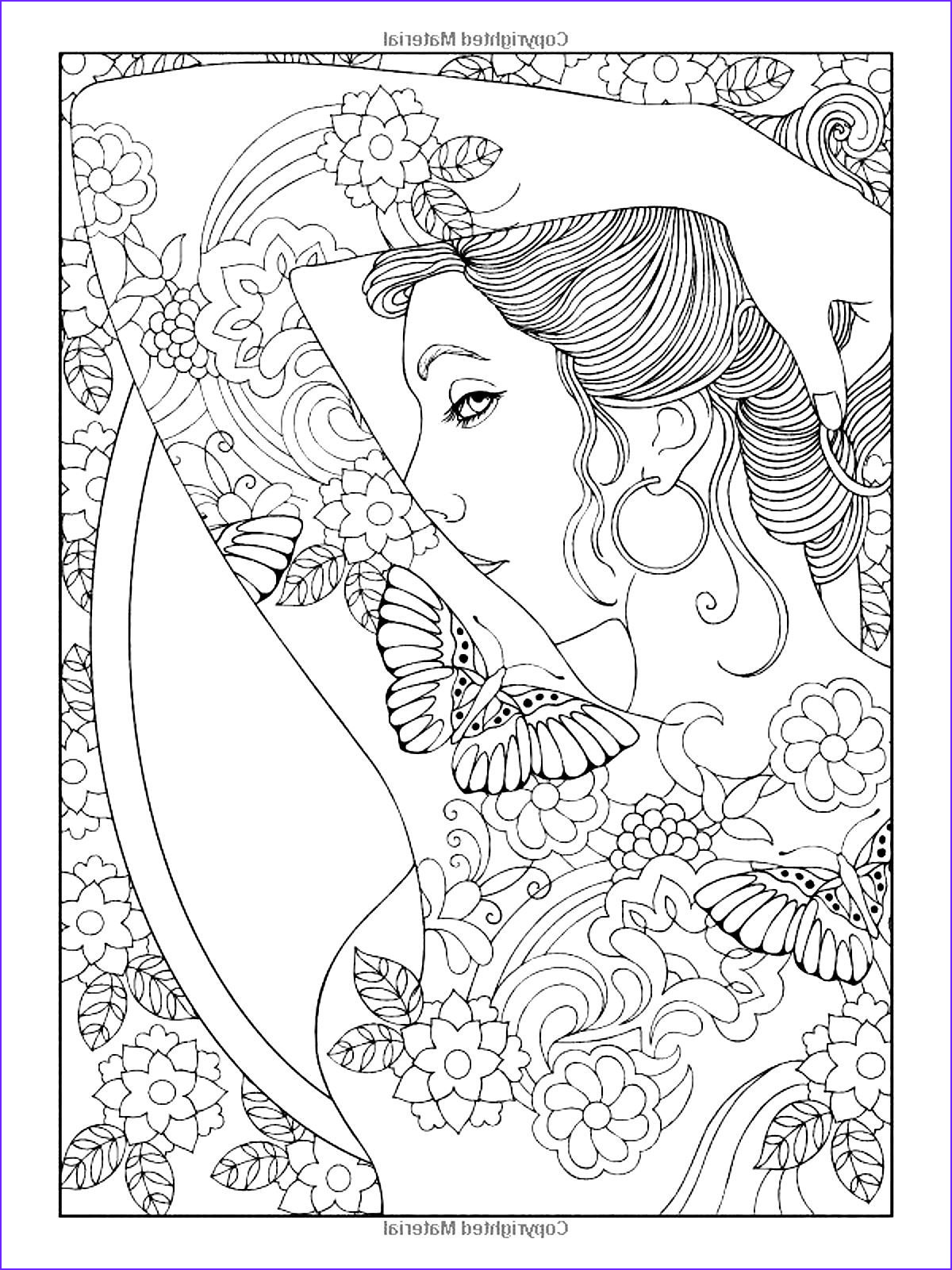 Coloring Pages Of Women Best Of Collection Free Coloring Page Coloring Adult Shoulder Tattooed Woman