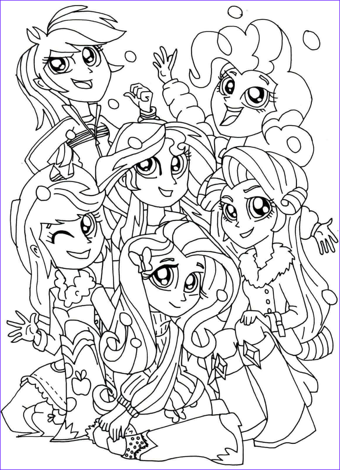 Coloring Pages Of Women Elegant Gallery 15 Printable My Little Pony Equestria Girls Coloring Pages