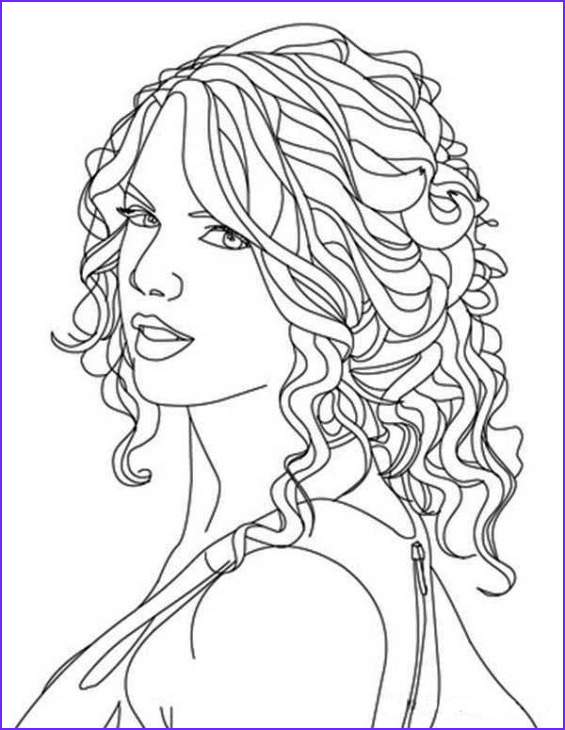 Coloring Pages People Luxury Collection Free Printable Image Taylor Swift to Color