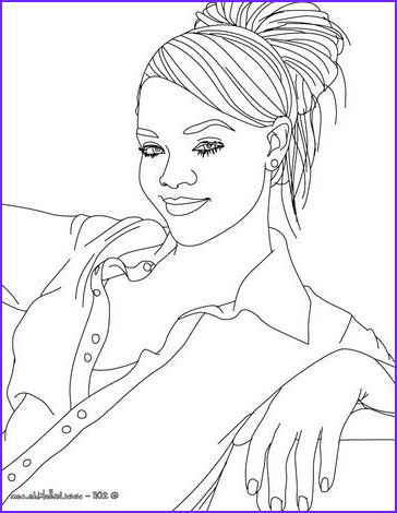 Coloring Pages People New Collection Beautiful Rihanna Coloring Page More Famous People