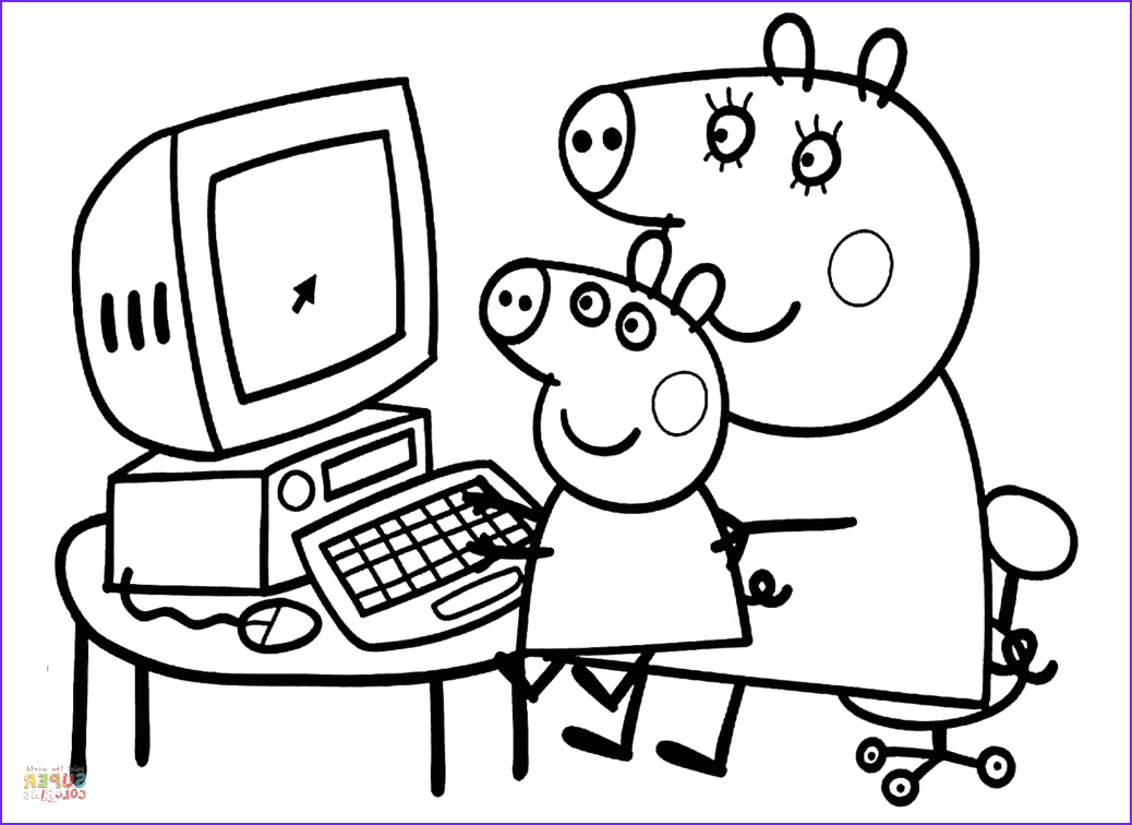 Coloring Pages Peppa Pig Best Of Photos Peppa with Mummy Coloring Page