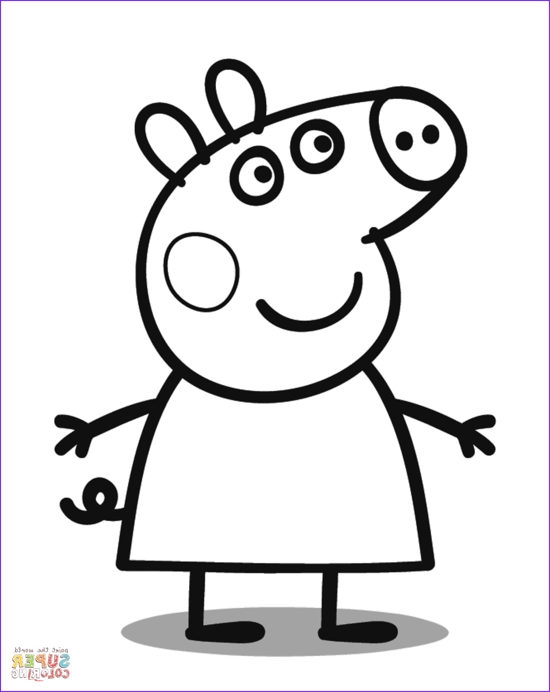 Coloring Pages Peppa Pig Cool Stock Peppa Pig Coloring Page