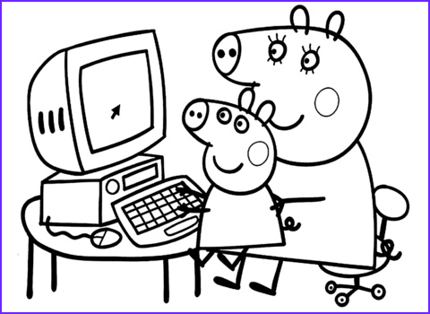 Coloring Pages Peppa Pig Luxury Images Peppa with Mummy Coloring Page