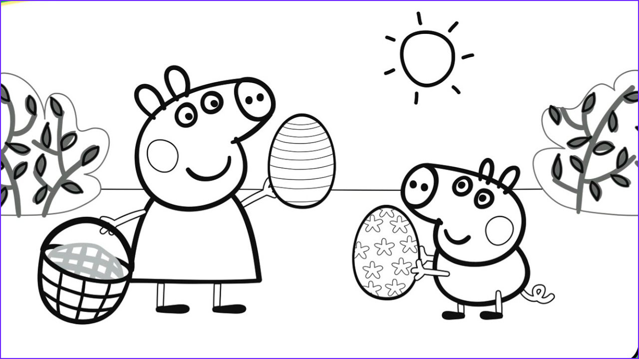 Coloring Pages Peppa Pig New Images Peppa Pig Playing with George Coloring Book Pages