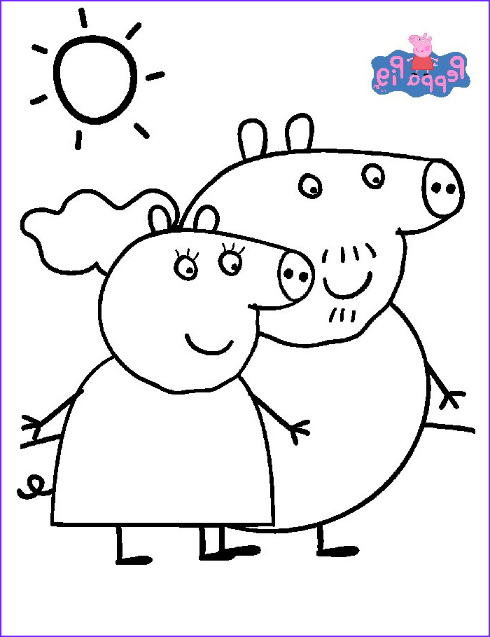 Coloring Pages Peppa Pig New Photos Kids N Fun