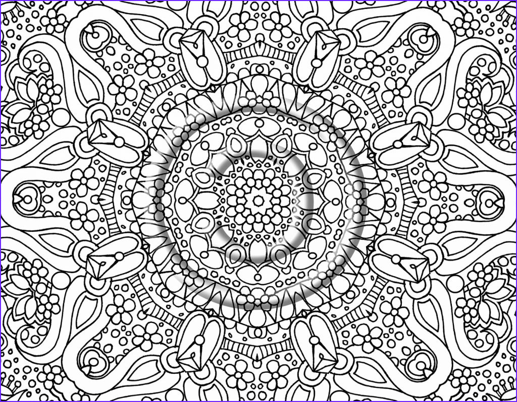 free printable abstract coloring pages adults