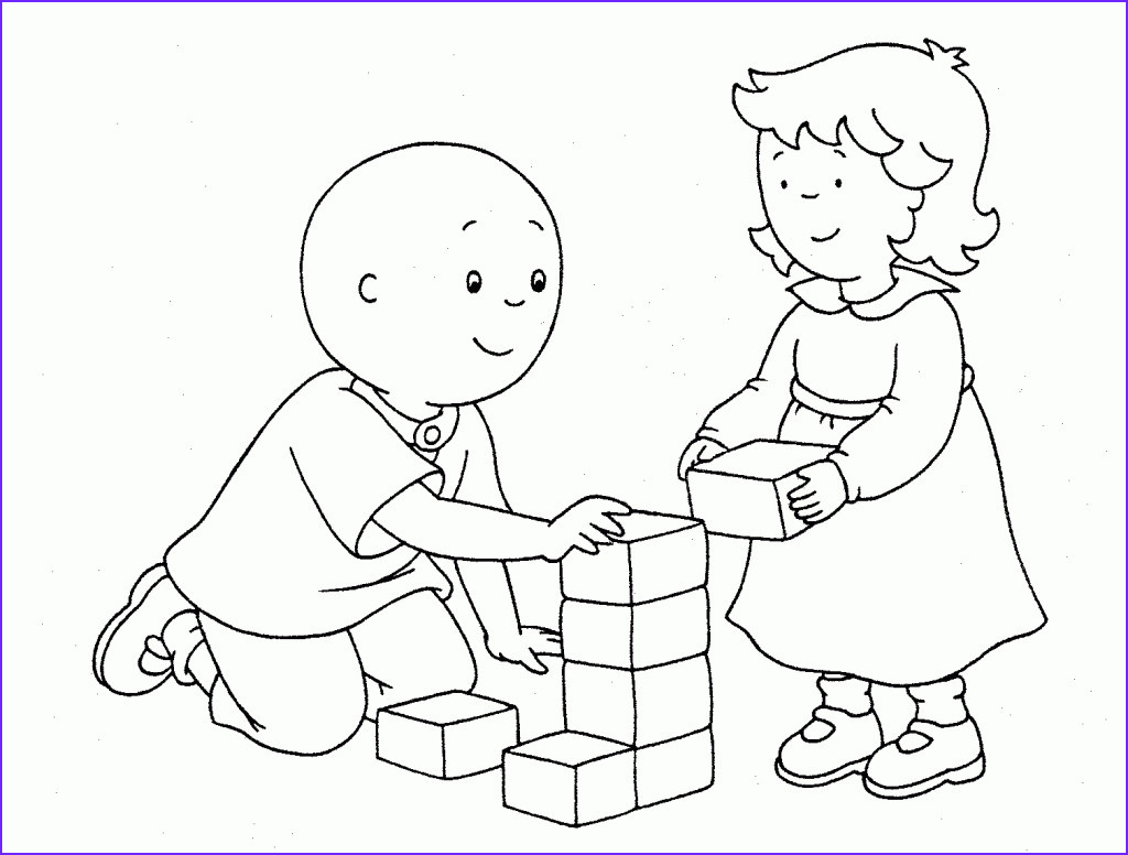 printable caillou coloring pages