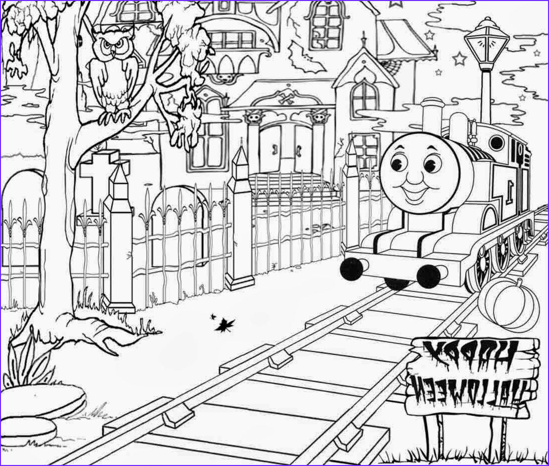 Coloring Pages Trains New Photography Halloween Full Page Thomas the Train Coloring Pages Id