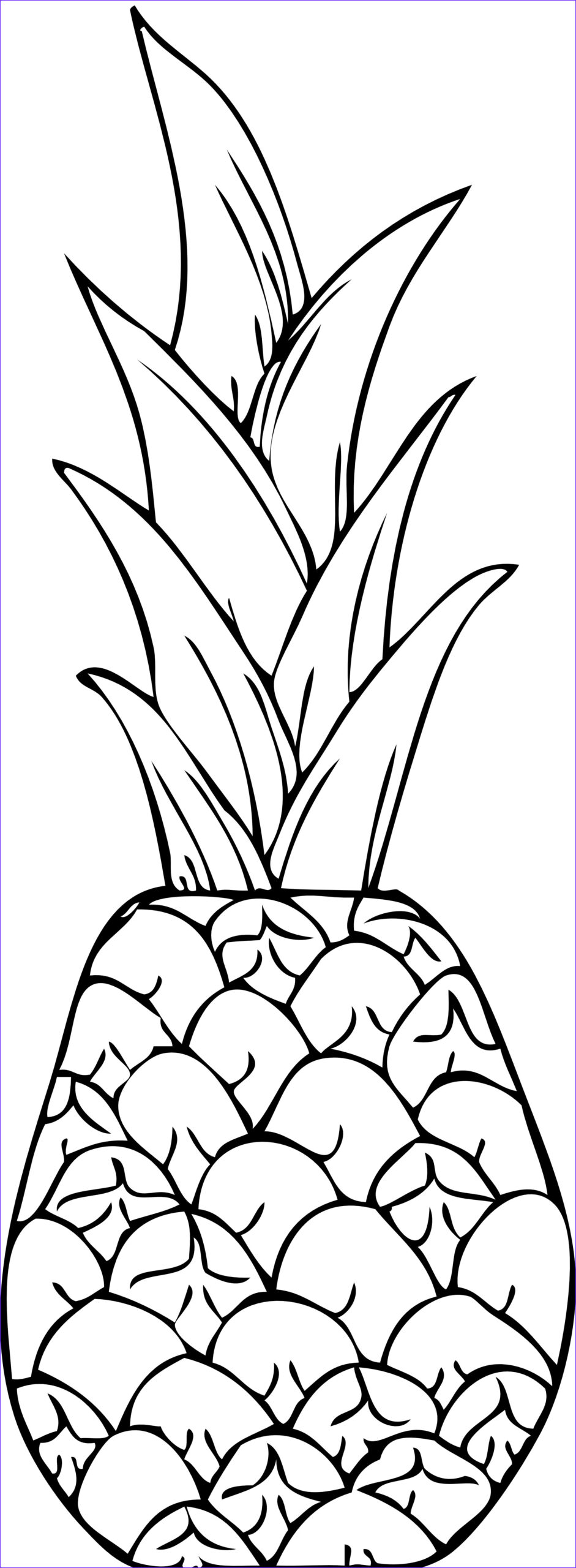 Coloring Paper to Print Cool Photos Free Printable Pineapple Coloring Pages for Kids