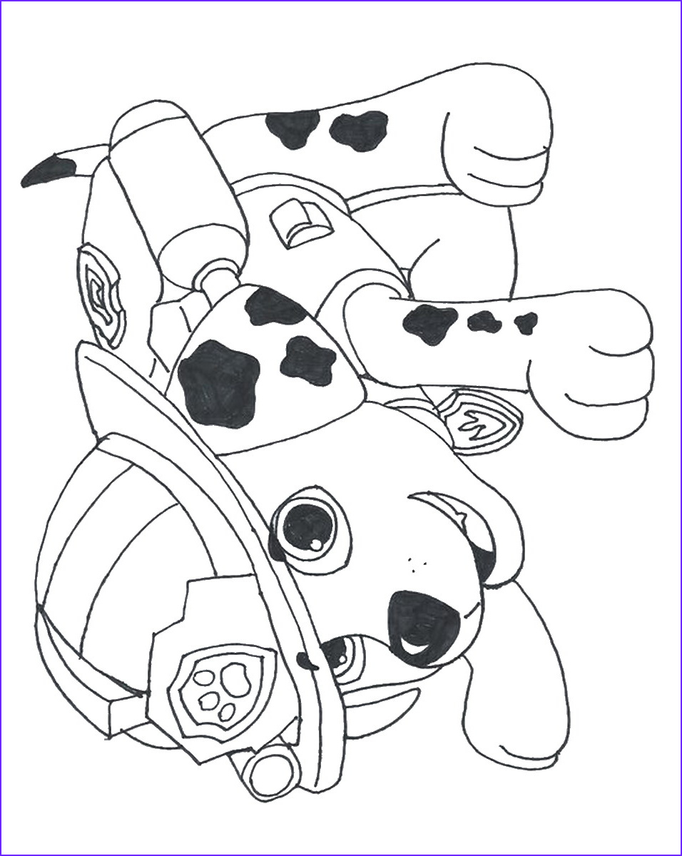 Coloring Paw Patrol Awesome Gallery Paw Patrol Coloring Pages Printable